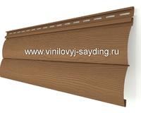 Акриловый сайдинг блокхаус Альта-Сайдинг Красно коричневый двухпереломный