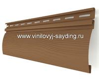Акриловый сайдинг блокхаус Альта-Сайдинг красно коричневый