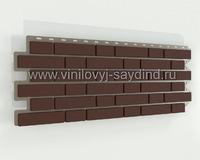 Виниловый сайдинг цокольный Альта-Профиль коричневый